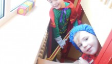 Jules samen met Sint en Zwarte Piet!