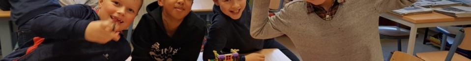 hoekenwerk techniek: Lego en Knexx