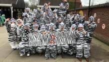 Zebra's losgebroken!