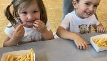 Mmm lekkere frietjes op school!