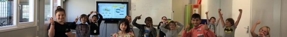 Wat is het fijn in onze klascontainer!
