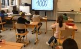 Wij leerden tellen en rekenen tot en met 1000!