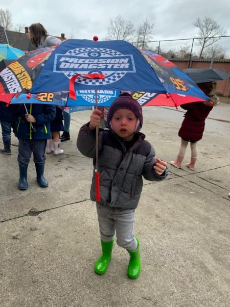 Met Jules onder de paraplu!