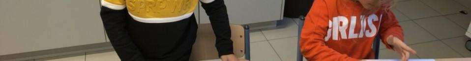 kerstversiering maken voor de klas
