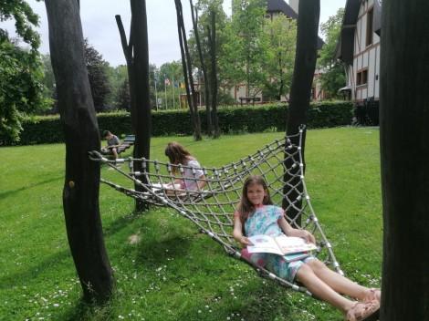 lekker lezen in het park
