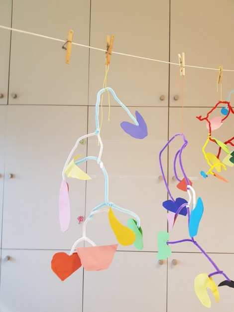 mobile geïnspireerd door Calder