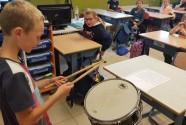 Drummer in de klas!